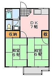 並木ハイツA[202号室]の間取り