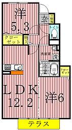 プチ・ボヌール[1階]の間取り