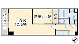 堺町センタービル[1302号室]の間取り