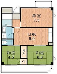 サンシャイン昭和[8階]の間取り