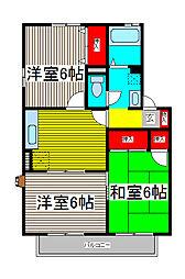 エステートU II[2階]の間取り