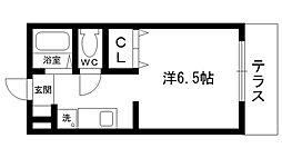 エトワール奈良崎[103号室]の間取り