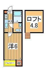 DHG.輝[2階]の間取り