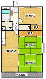 メゾンドール永岡[2階]の間取り
