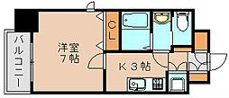 サヴォイ箱崎セントリシティ[9階]の間取り