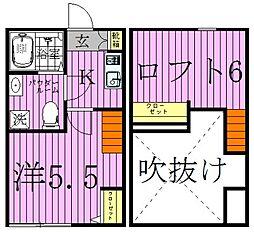 リアナ西新井(リアナニシアライ)[1階]の間取り