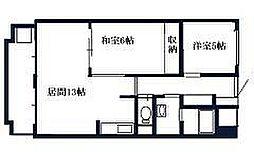 北海道札幌市南区澄川二条5丁目の賃貸マンションの間取り
