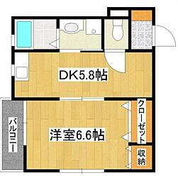 東京都板橋区大谷口1丁目の賃貸マンションの間取り