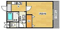 パーシモン茨木[2階]の間取り