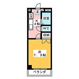 岩田ビル第1[6階]の間取り