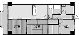 神奈川県相模原市南区古淵3丁目の賃貸マンションの間取り