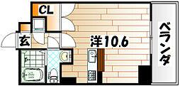 No.63 オリエントキャピタルタワー[1615号室]の間取り