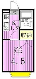 ジョイフル松戸[107号室]の間取り