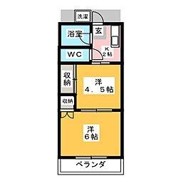 江原ハイツ[2階]の間取り
