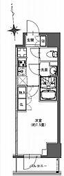 都営新宿線 馬喰横山駅 徒歩9分の賃貸マンション 10階1Kの間取り
