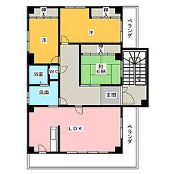 deuxiemu SAWADA[3階]の間取り