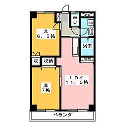 タシロハイツ[3階]の間取り