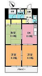 前島マンション[103号室]の間取り