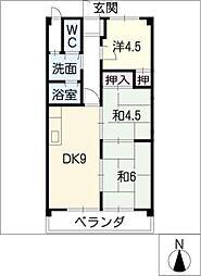 吉田マンション・城房[3階]の間取り