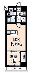 YAYOI COURT[4階]の間取り