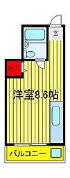 クレスト六高台[405号室]の間取り
