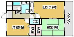 兵庫県小野市敷地町の賃貸マンションの間取り