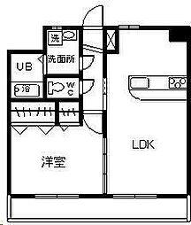 (賃)サンフォレスト柳丸[4階]の間取り