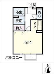 ソレーユ樹[1階]の間取り