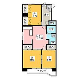 赤塚ハイツ[2階]の間取り
