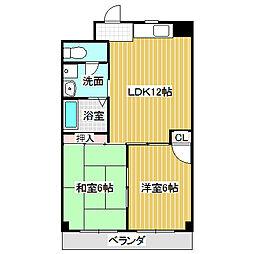 愛知県名古屋市熱田区四番2の賃貸マンションの間取り