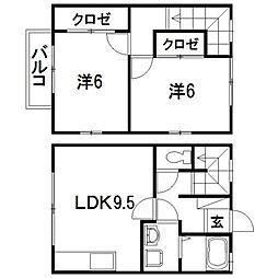 [テラスハウス] 静岡県浜松市西区神ケ谷町 の賃貸【/】の間取り