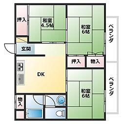 帝塚山グリーンレジデンス[5階]の間取り