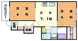 サンライトガーデンA[1階]の間取り
