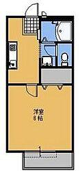 パリハイツ A[202号室号室]の間取り