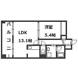 ラフォーレ札幌[5階]の間取り