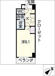 スペースデュークF[6階]の間取り