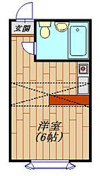 ベルピア天王台1−2[202号室]の間取り