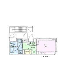 小田急小田原線 豪徳寺駅 徒歩3分の賃貸マンション 2階1Kの間取り