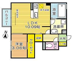 D-room片野新町[1階]の間取り