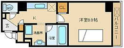 兵庫県姫路市西二階町の賃貸マンションの間取り