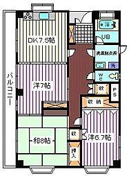 埼玉県さいたま市桜区大字町谷の賃貸マンションの間取り