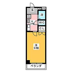 グリーンコートII[1階]の間取り