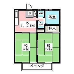 吉田ハイツ[2階]の間取り