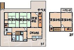 [一戸建] 広島県呉市押込3丁目 の賃貸【/】の間取り