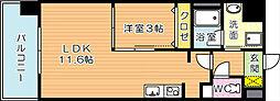 コンダクトレジデンス折尾[4階]の間取り