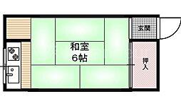 松葉荘[2階]の間取り