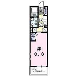 リブェールSHINOIII[1階]の間取り
