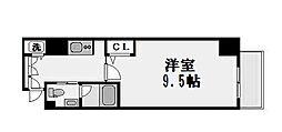 エスライズ北堀江[14階]の間取り
