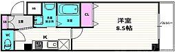 仮称)開田三丁目新築マンション 2階1Kの間取り