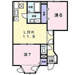 横浜市磯子区上中里町ヒルサイドテラス上中里[1階]の間取り